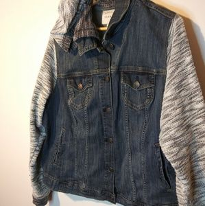 TORRID 3X jean/knit jacket